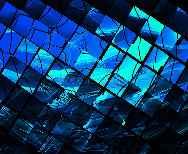 Kierowany komputerowo wizerunek fractal abstrakcyjne royalty ilustracja