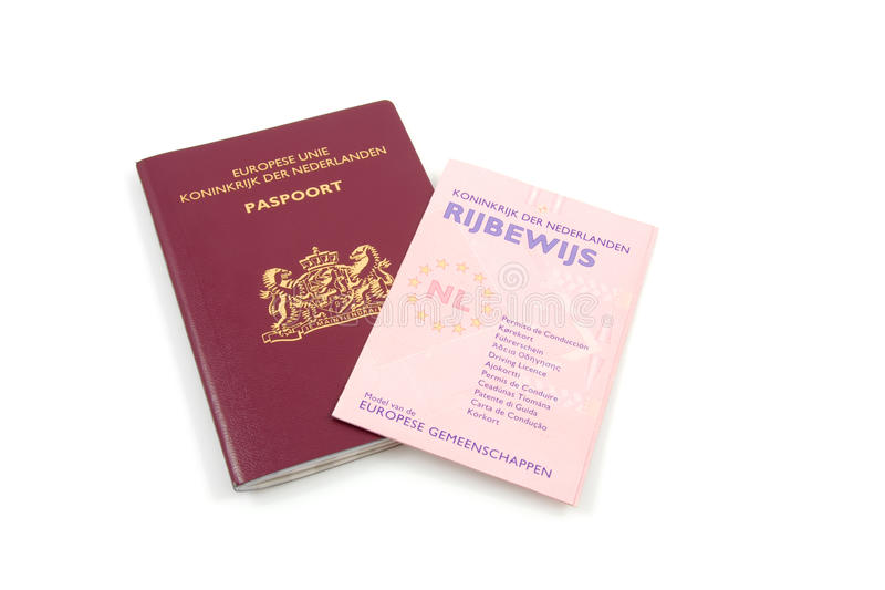 kierowców holenderski koncesi paszport fotografia stock