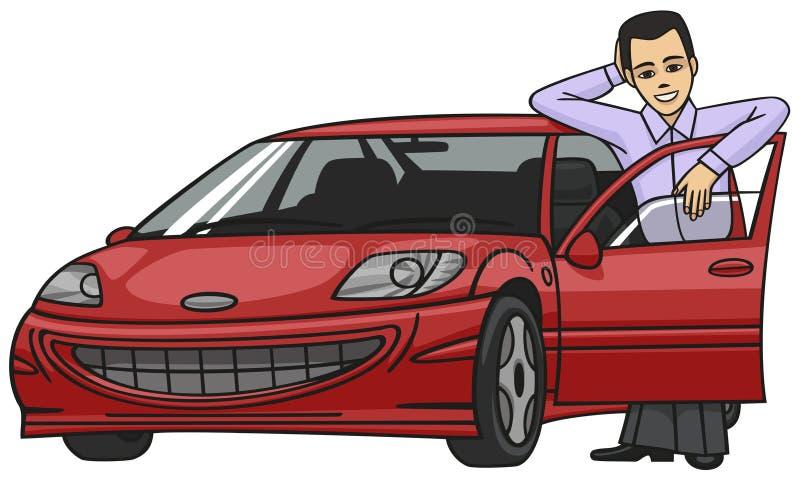 kierowca ilustracji