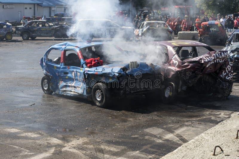 kierowca demolition Derby obrazy stock