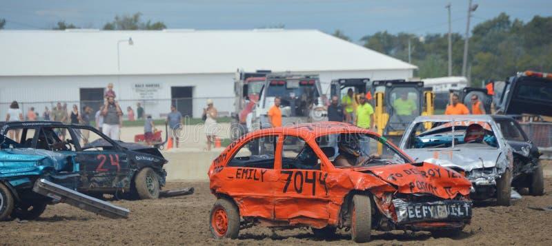 kierowca demolition Derby zdjęcia royalty free
