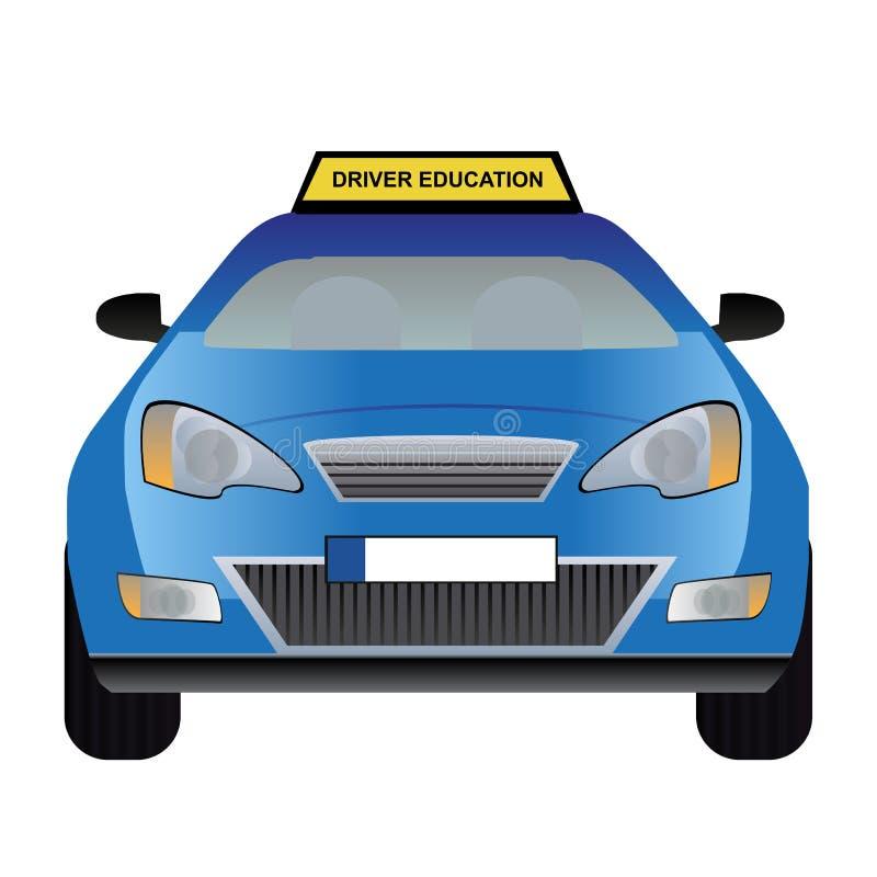 Kierowca edukaci samochód royalty ilustracja