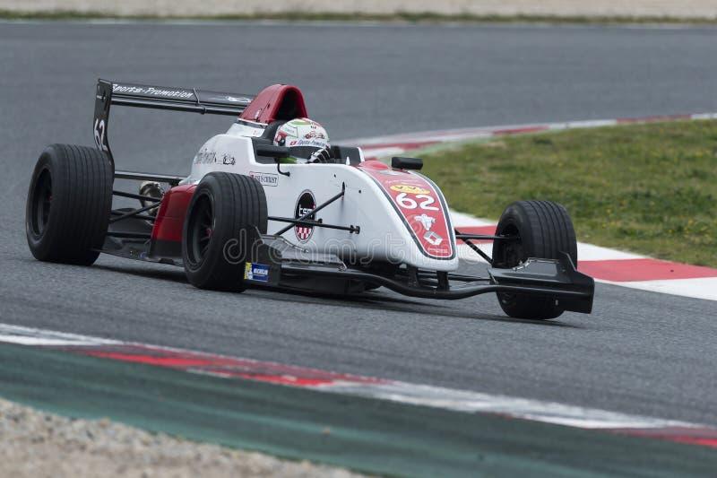 Kierowca Hurni Christophe Wyzwanie formuła obrazy stock