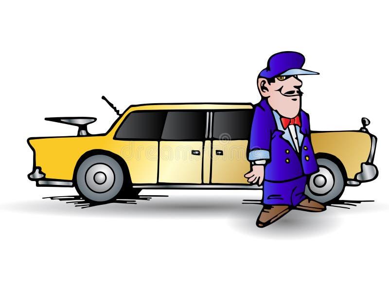 kierowca limuzyna royalty ilustracja