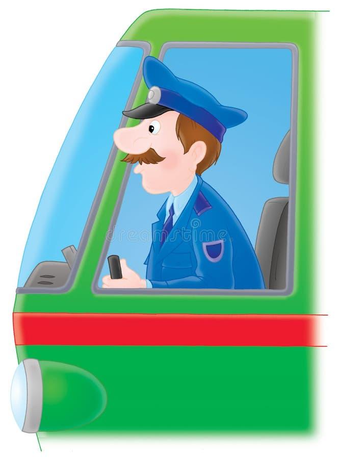 kierowca lokomotywa ilustracji