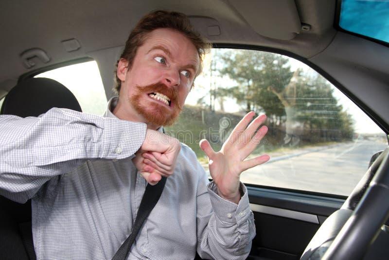 kierowca szalenie obrazy stock