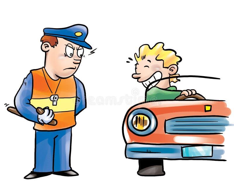 Download Kierowcy oficera policja ilustracji. Obraz złożonej z prędkość - 9325748