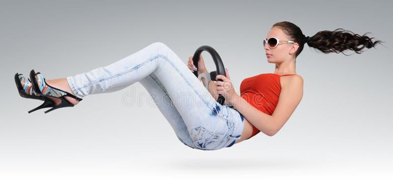 kierowcy piękny koło zdjęcia royalty free
