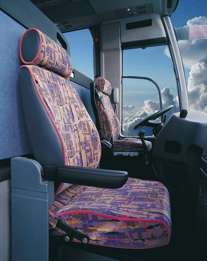 Kierowcy przedział stary autobus obraz stock