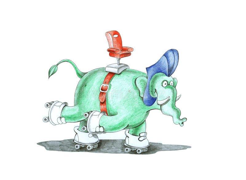 kierowcy słoń royalty ilustracja