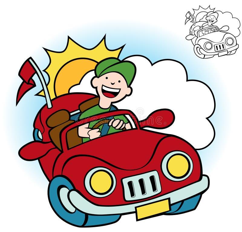 kierowcy set ilustracji