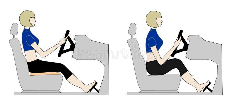 kierowcy siedzenie s zdjęcie stock