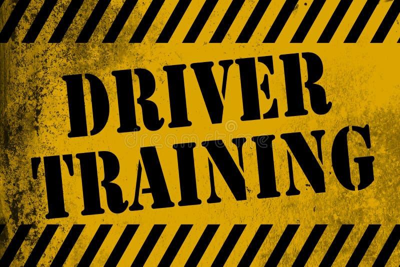 Kierowcy szkolenia znaka kolor żółty z lampasami ilustracja wektor
