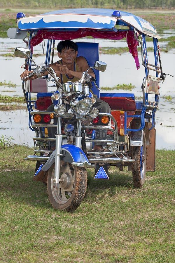 kierowcy Thailand tuk fotografia royalty free