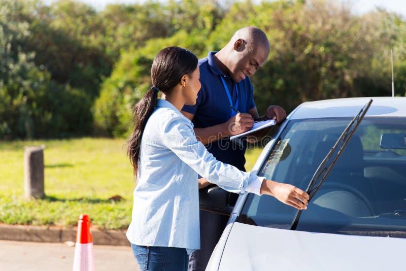 Kierowcy windscreen wiper obrazy royalty free