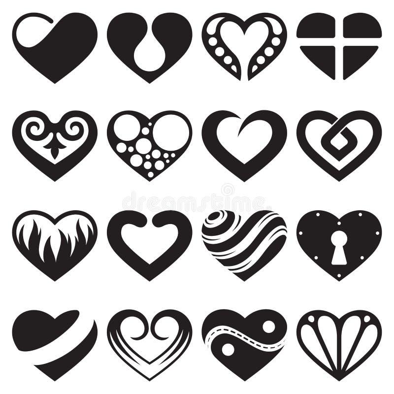 Kierowe ikony i znaki ustawiający ilustracji