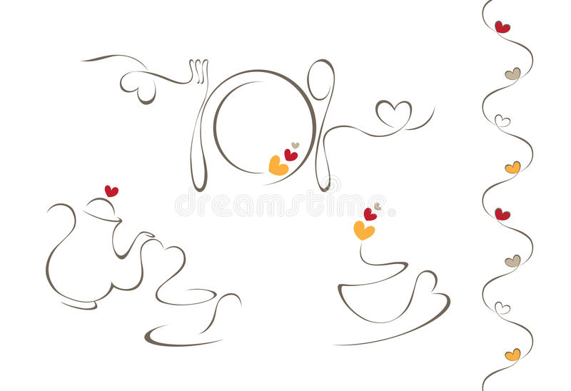 Kierowe menu ikony ilustracji