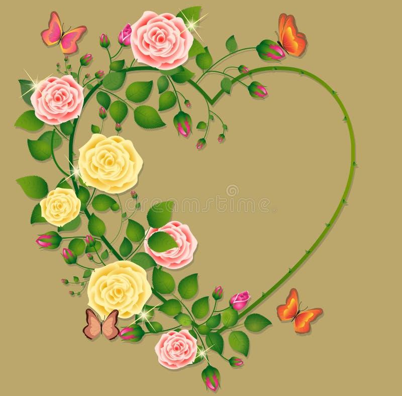 kierowe róże ilustracji