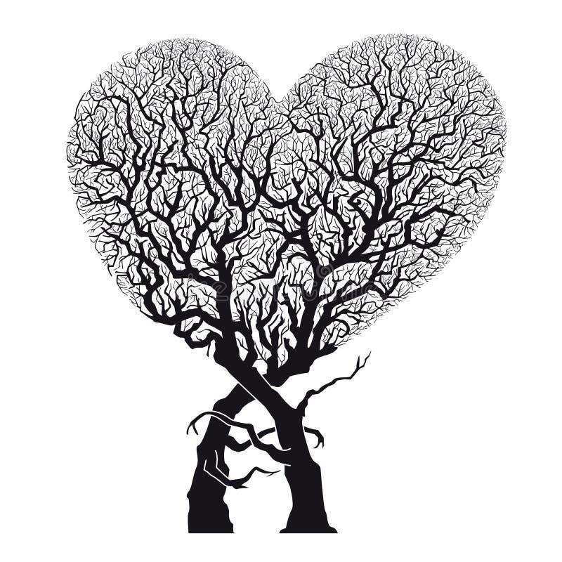 Kierowego Abstrakcjonistycznego Drzewnego †'korzenie Wyplatający w Kierowego kształt - wektor & ilustracja royalty ilustracja