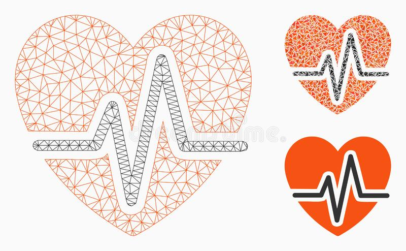Kierowego diagrama siatki ścierwa trójboka i modela mozaiki Wektorowa ikona ilustracja wektor