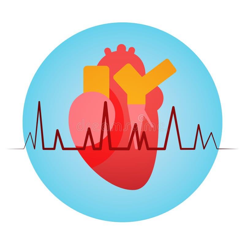 Kierowego pulsów zdrowie Światowego dnia Globalny wakacje ilustracji