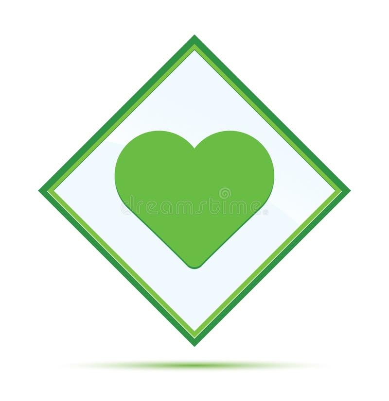 Kierowej ikona abstrakta nowożytnej zieleni diamentowy guzik royalty ilustracja