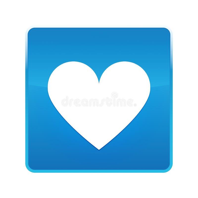 Kierowej ikony błękita kwadrata błyszczący guzik royalty ilustracja