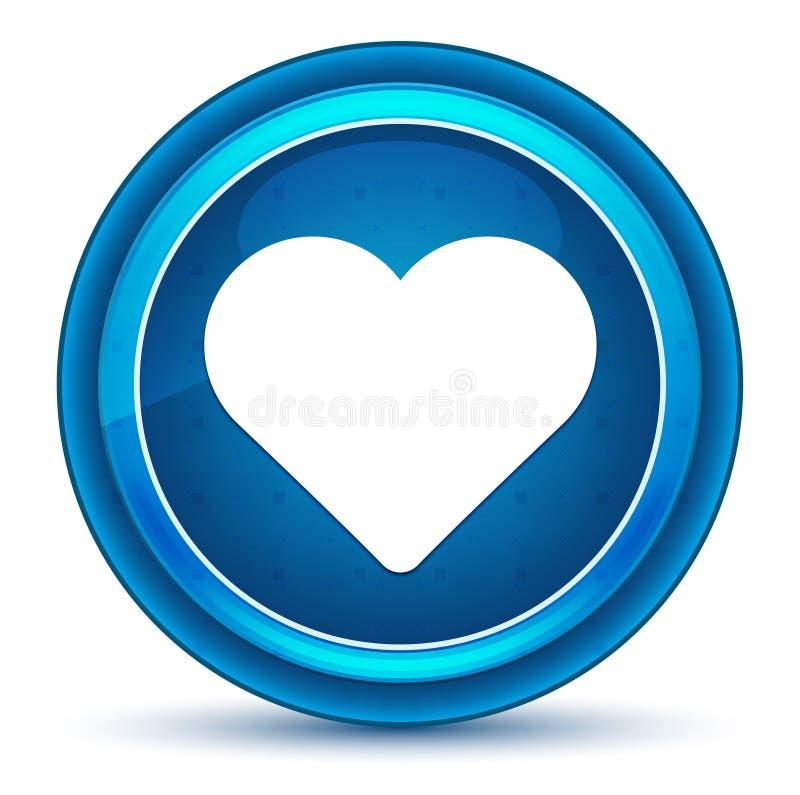 Kierowej ikony gałki ocznej round błękitny guzik royalty ilustracja