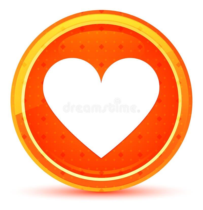 Kierowej ikony round naturalny pomarańczowy guzik ilustracji