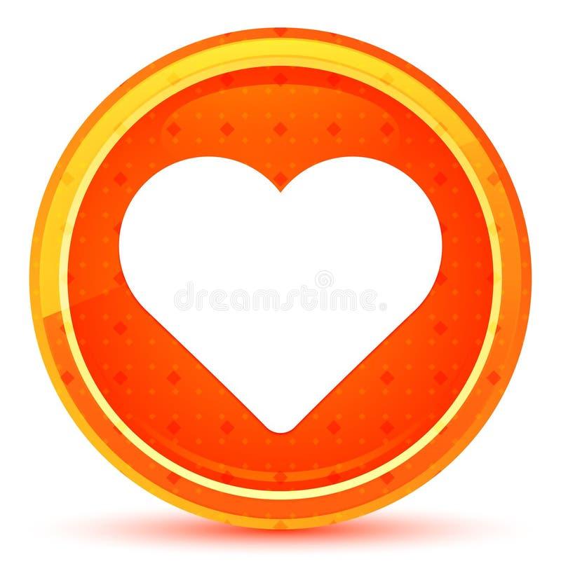 Kierowej ikony round naturalny pomarańczowy guzik royalty ilustracja