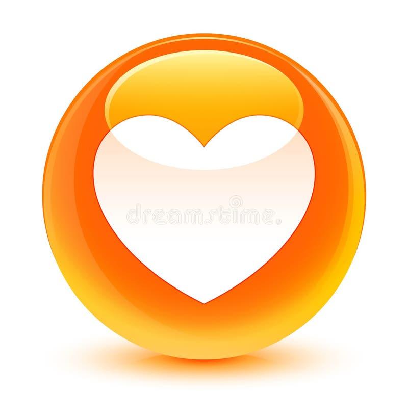 Kierowej ikony szklisty pomarańczowy round guzik ilustracja wektor
