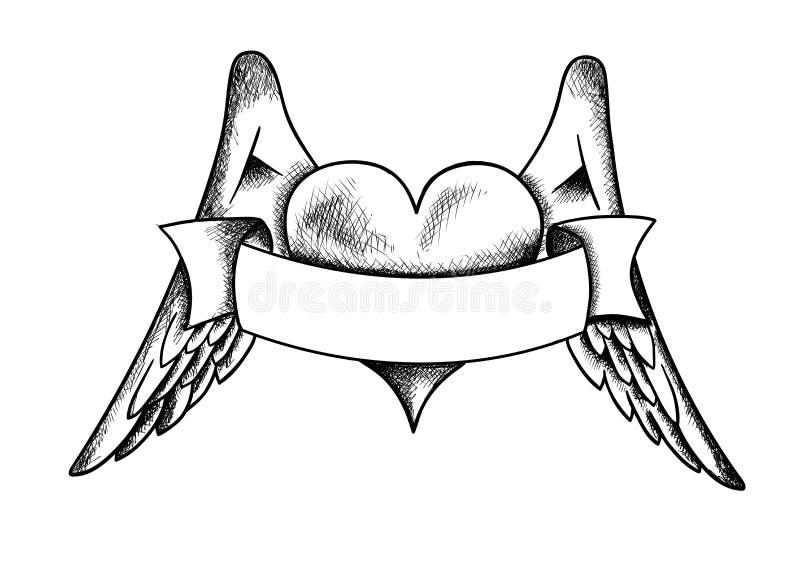 kierowi skrzydła royalty ilustracja