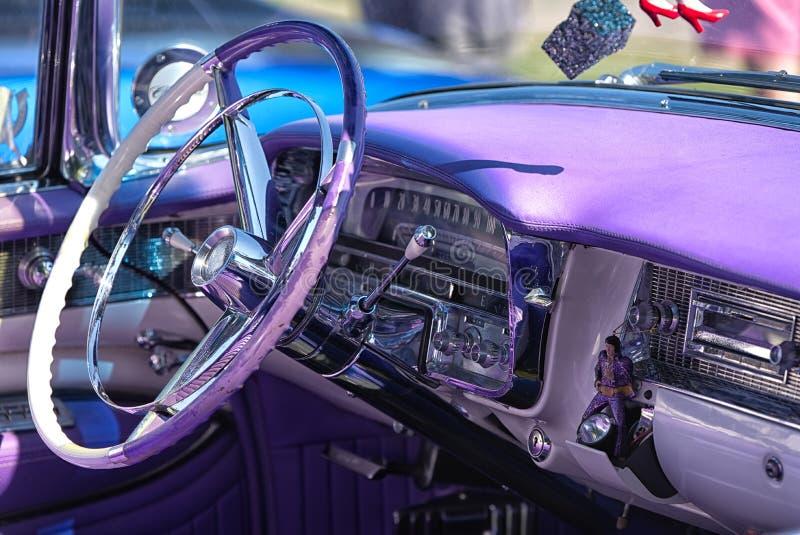 Kierownica i deska rozdzielcza 1956 Cadillac Eldorado Biarritz fotografia royalty free