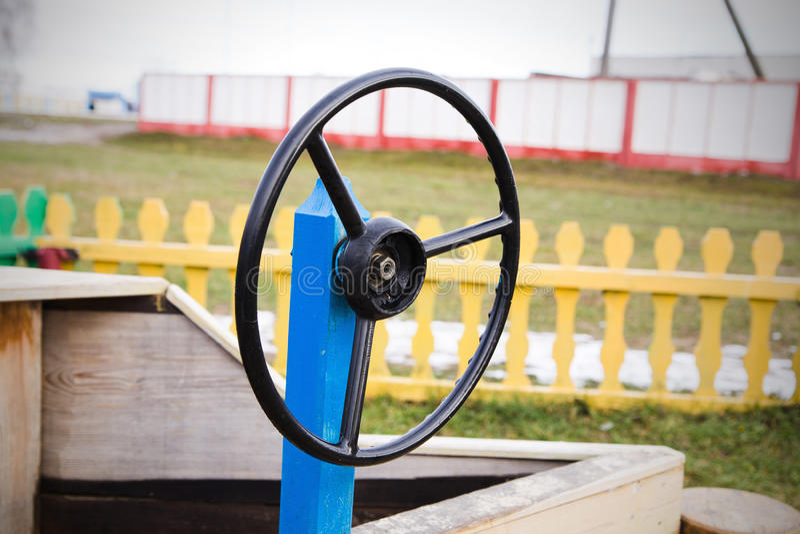 Kierownica przy boiskiem zdjęcie stock