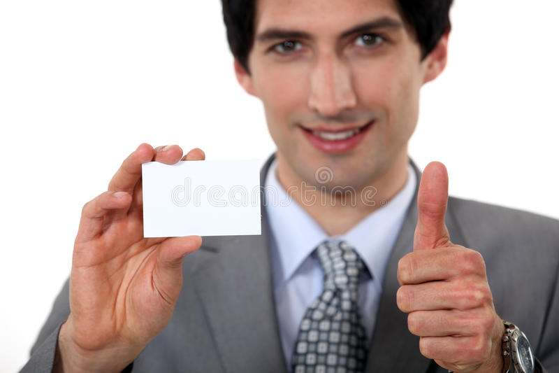 Kierownictwo trzyma wizytówkę zdjęcia royalty free