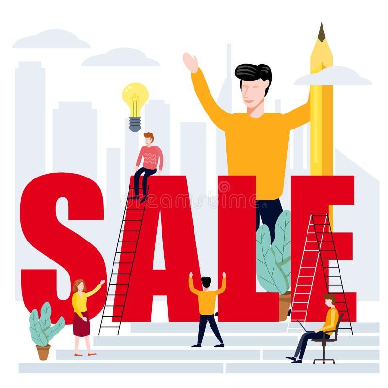 Kierownicy I urzędnicy Na biznesie, Rozwija zarządzanie przedsiębiorstwem umiejętności, Wprowadzać na rynek I wiedza Ustawiający  royalty ilustracja