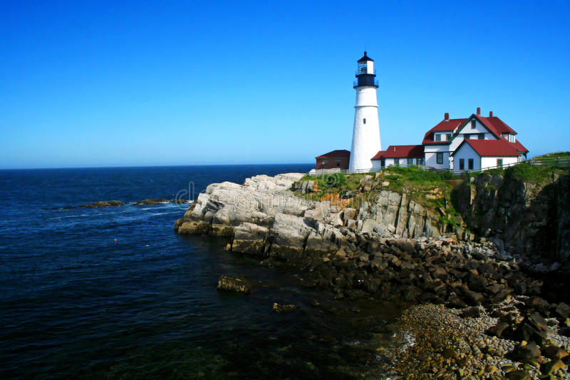 Kierownicza Portland Latarnia morska fotografia stock