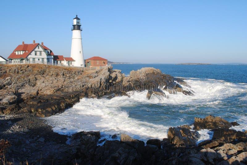 Kierownicza Portland Latarnia morska, Przylądek Elizabeth JA, USA obraz royalty free