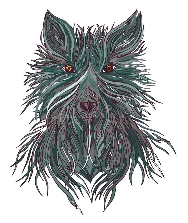 Kierownicza wilcza dzika bestia zdobycz ilustracja wektor