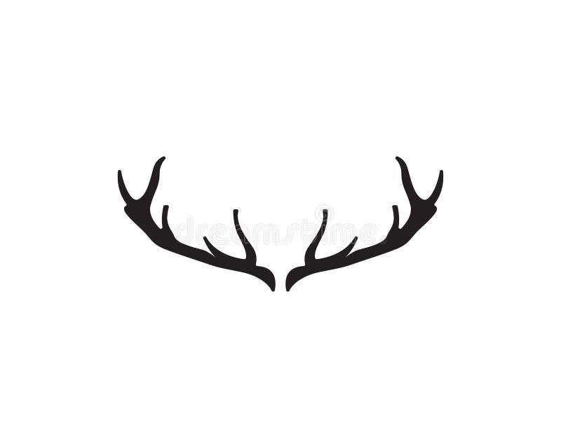 Kierownicze jelenie zwierzę loga czerni silhouete ikony ilustracja wektor