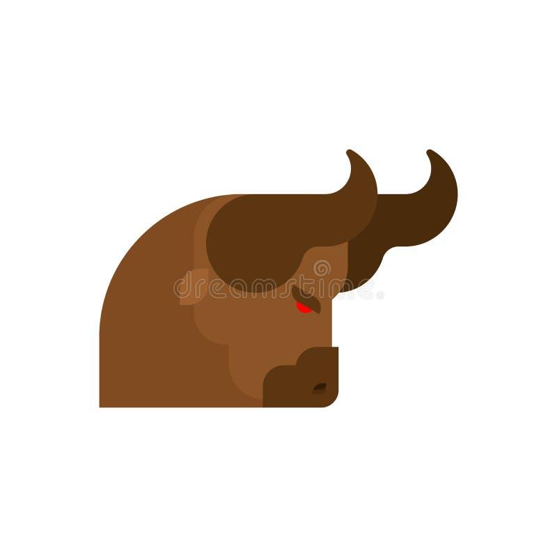 Kierowniczego byka gniewny odosobniony Plemienny byka wektor ilustracja wektor
