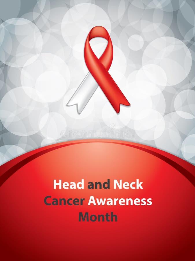 Kierowniczego i szyi nowotworu świadomości miesiąc ilustracja wektor