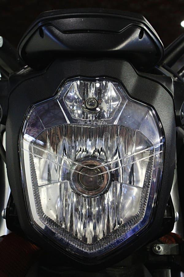 Kierowniczy światło i część przód maska nowożytny amerykański elektryczny rower zdjęcie royalty free