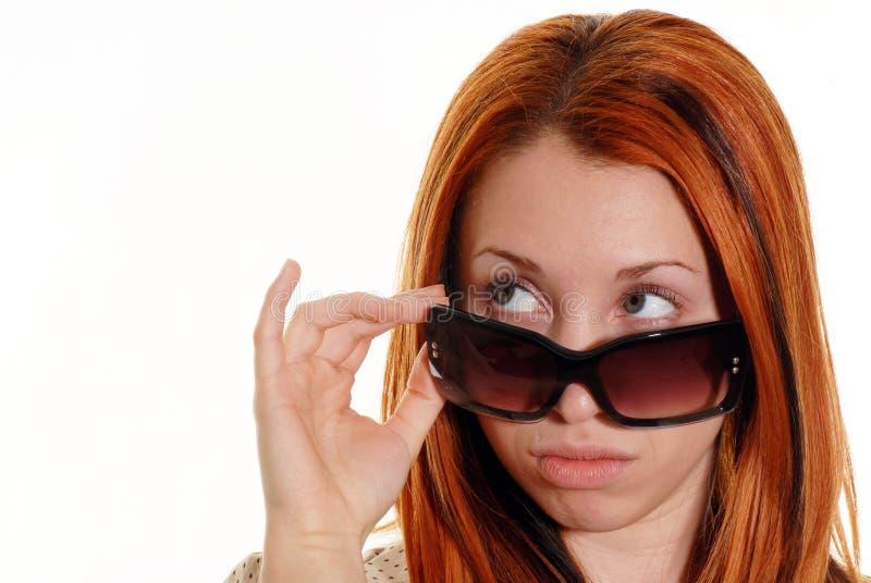 kierowniczy czerwoni okulary przeciwsłoneczne zdjęcia stock