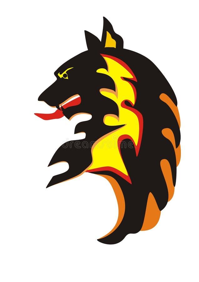kierowniczy emblemata wilk ilustracji
