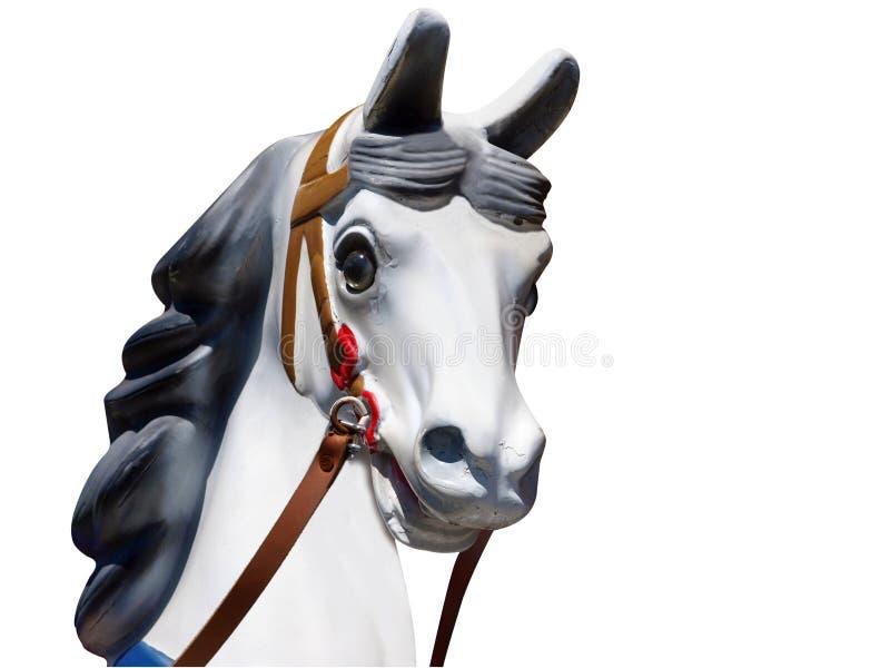 kierowniczy idzie koński wesoło stary round zdjęcia royalty free