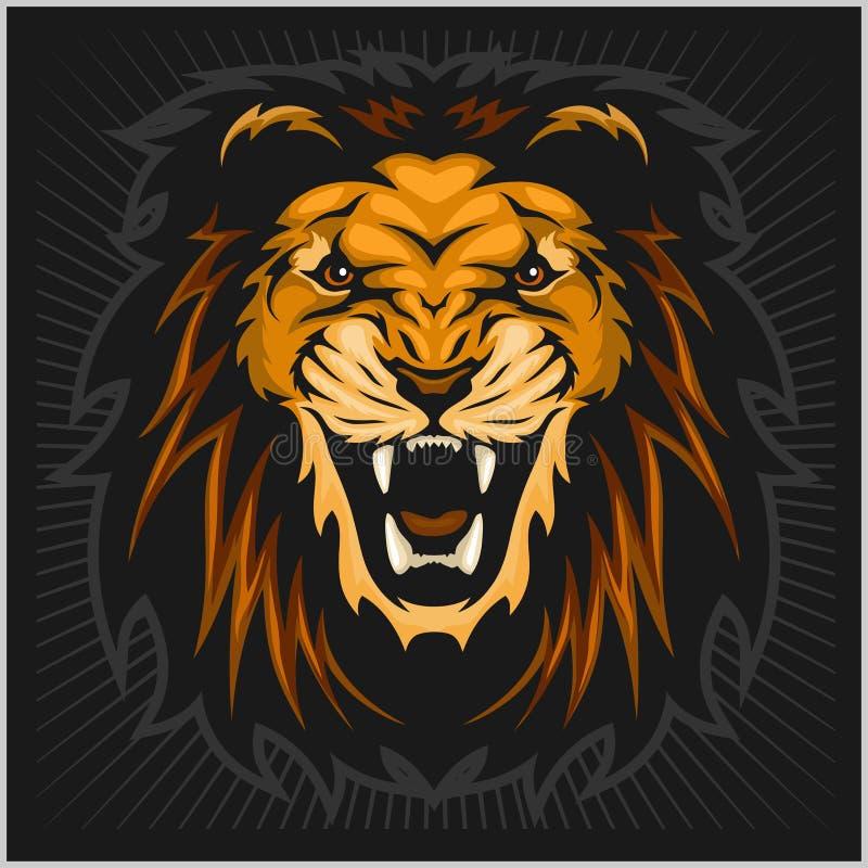 kierowniczy ilustracyjny lew royalty ilustracja