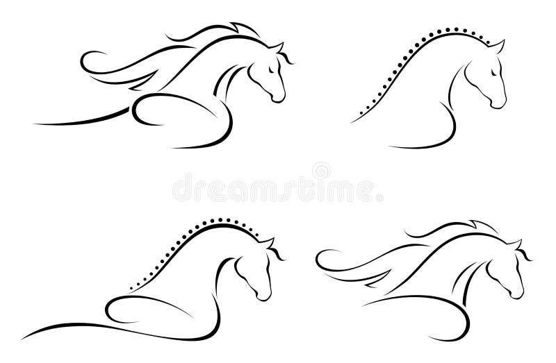 kierowniczy koń ilustracja wektor