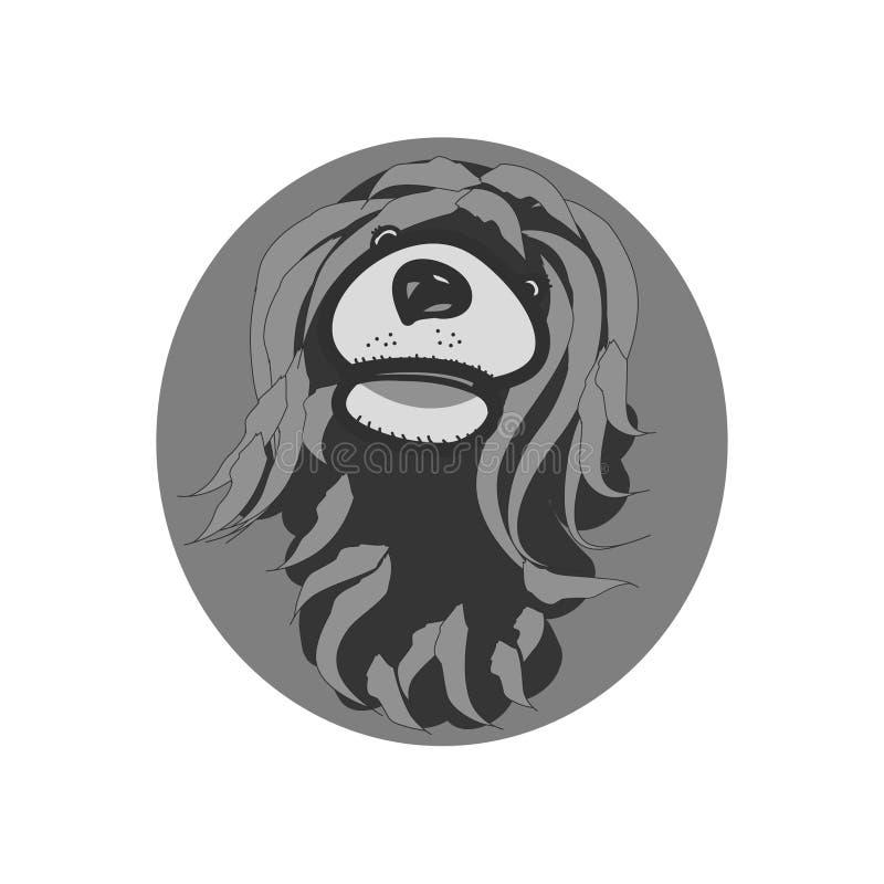 Kierowniczy kostrzewiasty pies ilustracja wektor