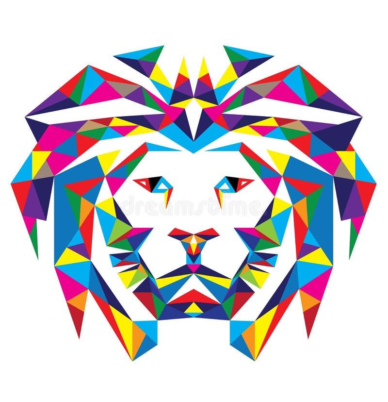 Kierowniczy lew Poligonalny royalty ilustracja